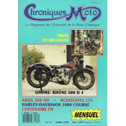 CHRONIQUES MOTO n° 17 AVRIL 1990