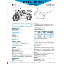 APRILIA RS 125 Modèle 1998 (Fiche Revue Moto Technique)