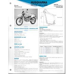 HUSQVARNA TE 610 E (1999 et 2000) Fiche RMT