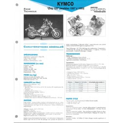 KYMCO 125 ZING (modèles 1997 à 1999) Fiche RMT