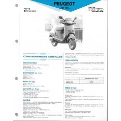 PEUGEOT SV 125 (modèles 1991 à 1994) Fiche RMT