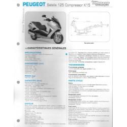 PEUGEOT Satelis 125 Compressor K5 Fiche RMT