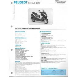 PEUGEOT SATELIS 500 de 2007 Fiche RMT