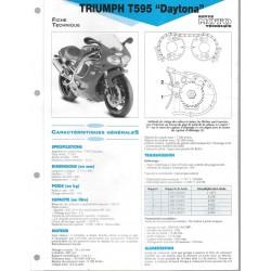 TRIUMPH T595 DAYTONA de 1997 Fiche RMT