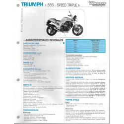 TRIUMPH 885i Speed Triple de 1997 / 1998 Fiche RMT