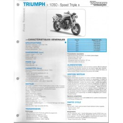 TRIUMPH 1050 Speed Triple de 2005 / 2006 Fiche RMT