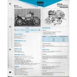 BMW R 80 G/S de 1981 Fiche RMT