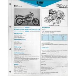 BMW R 100 R de 1992 Fiche RMT