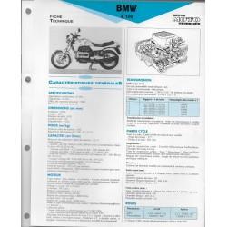 BMW K 100 de 1983 et + Fiche RMT