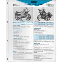 BMW K 100 RS - RT - LT de 1983 et + Fiche RMT