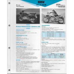 BMW K 1 - K 100 RS 16 soupapes de 1989 et + Fiche RMT