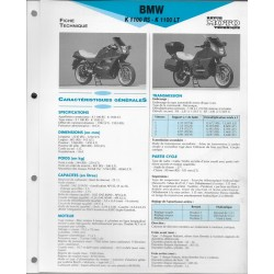 BMW K 1100 RS / K 1100 LT Fiche RMT