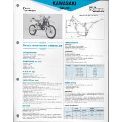 KAWASAKI KDX 200 de 1995 (Fiche RMT)