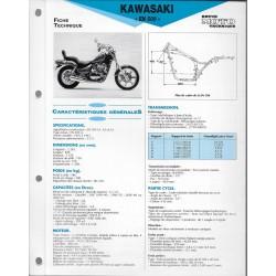 KAWASAKI EN 500 de 1991 à 1993 (Fiche RMT)