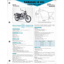 KAWASAKI W 650 de 1999 et 2000 (Fiche RMT)