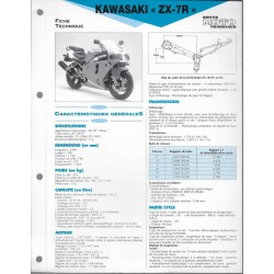 KAWASAKI ZX-7R de 1996 et 1997 (Fiche RMT)