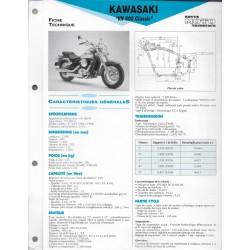 KAWASAKI VN 800 Classic de 1996 à 1998 (Fiche RMT)