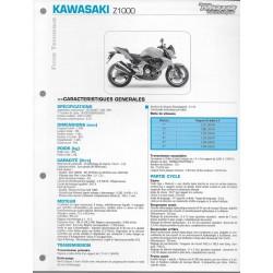 KAWASAKI Z 1000 de 2007 à 2009 (Fiche RMT)
