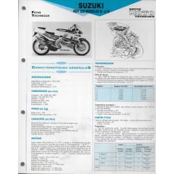 SUZUKI RGV 250 M et N de 1991 et 1992 (Fiche RMT)