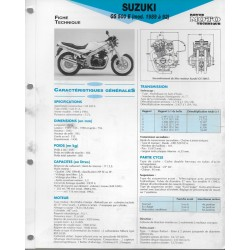 SUZUKI GS 500 E de 1989 à 1992 (Fiche RMT)