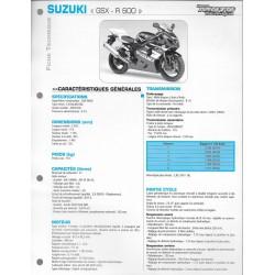 SUZUKI GSX-R 600 de 2004 (Fiche RMT)