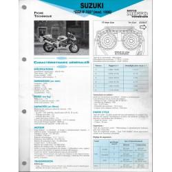 SUZUKI GSX- R 750 de 1996 (Fiche RMT)