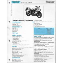 SUZUKI GSX- R 750 U2- K4 de 2004 (Fiche RMT)
