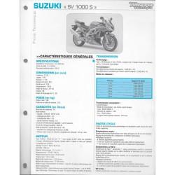 SUZUKI SV 1000 S K3 de 2003 (Fiche RMT)