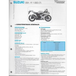 SUZUKI GSX-R 1000 de 2007 (Fiche RMT)