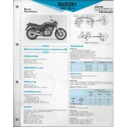SUZUKI GSX 1100 G de 1991 (Fiche RMT)