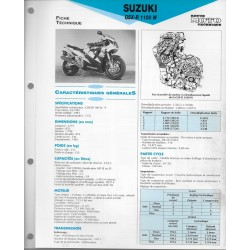 SUZUKI GSX-R 1100 W de 1993 (Fiche RMT)