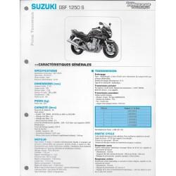 SUZUKI GSF 1250 S de 2007 (Fiche RMT)
