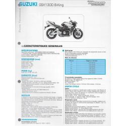 SUZUKI GSX 1300 B-KING de 2008 / 2009 (Fiche RMT)