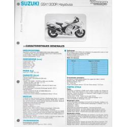 SUZUKI 1300 R HAYABUSA e 2008 et 2009 (Fiche RMT)
