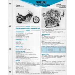 SUZUKI VS 1400 de 1987 et 1988 (Fiche RMT)