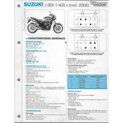 SUZUKI GSX 1400 de 2002 (Fiche RMT)