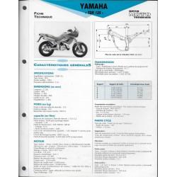 YAMAHA TDR 125 de 1993 (Fiche RMT)