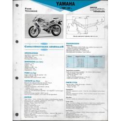 YAMAHA TZR 125 de 1993 (Fiche RMT)