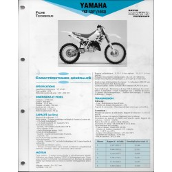 YAMAHA YZ 125 type 4EX de 1993 (Fiche RMT)