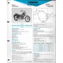 YAMAHA XV 125 type 5AJ de 1997 (Fiche RMT)