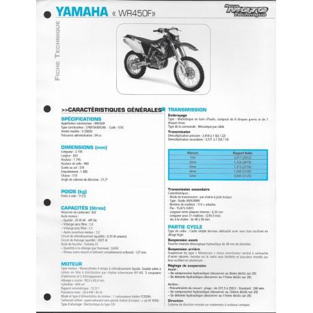YAMAHA WR 450 F de 2005 (Fiche RMT)
