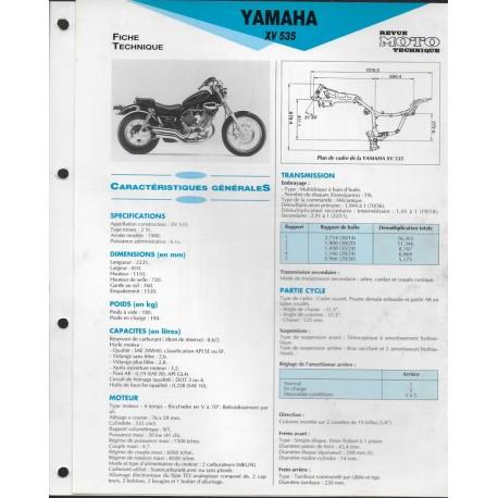 YAMAHA XV 535 de 1988 (Fiche RMT)