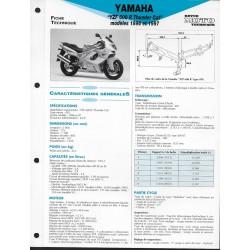 YAMAHA YZF 600 R de 1996 et 1997 (Fiche RMT)