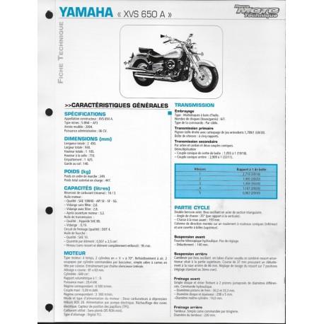 YAMAHA XVS 650 A de 2004 (Fiche RMT)