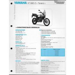 YAMAHA XT 660 Z de 2008 (Fiche RMT)