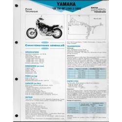 YAMAHA XV 750 SE de1981 à 1983 (Fiche RMT)