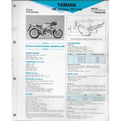 YAMAHA FZR 1000 de 1987 et 1988 (Fiche RMT)