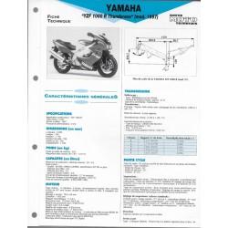 YAMAHA YZF 1000 R de 1997 (Fiche RMT)