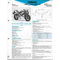 YAMAHA YZF-R1 1000 de 1998 / 1999 (Fiche RMT)