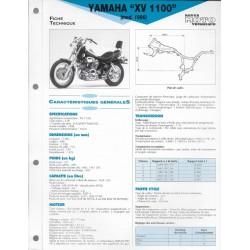 YAMAHA XV 1100 de 1996 (Fiche RMT)